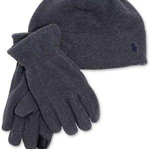 POLO RALPH LAUREN Polartec Fleece Hat & Gloves Set